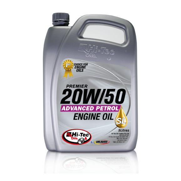 Hitec, High Tech Engines Need Hi-Tec Oils, PREMIER 20W/50 SL