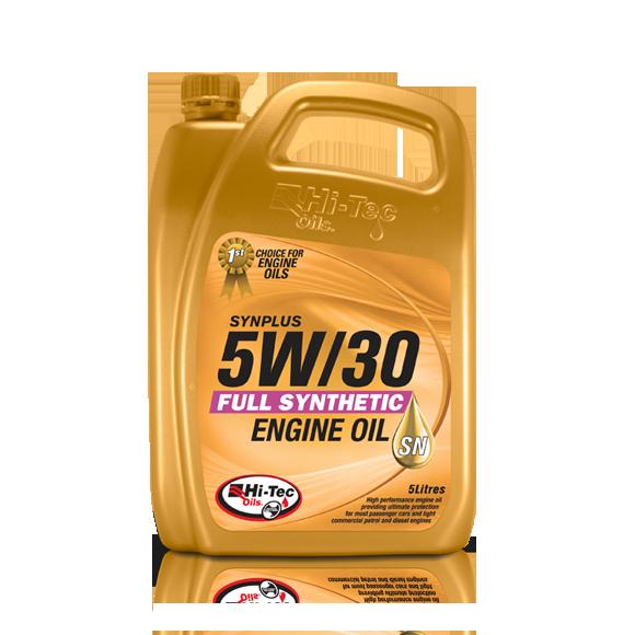 Hitec, High Tech Engines Need Hi-Tec Oils, Synplus 5W/30 SN/CF